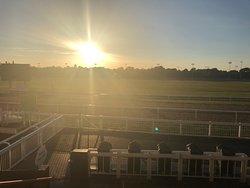 Sunset on the racecourse