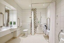 Premier Inn wet room with walk in shower