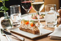 Swedish classic Toast Skagen – shrimps in mayonnaise with lemon, dill and roe