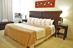 Habitaciones con camas King Sice disponibles para los huéspedes que lo solicitan.