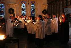 Trinity's choir maintains a tradition of excellence in traditional choral music.  Visitors are always welcome for concerts and services, whether Christian or not.  Everyone is welcome.