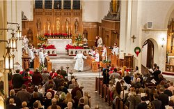 Christmas at Trinity is a beautiful time.  Visitors are always welcome!