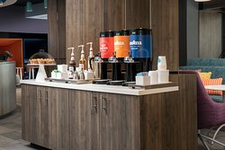 24/7 complimentary LavAzza coffee, Stash tea and hot chocolate available in the hotel lobby.
