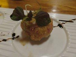 Close up of Spicy Tuna Croquetta