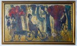 Radfahrer im Park (1)