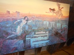 Målning på en större tavla !