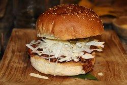 poulet mode hamburger au pain délicieux