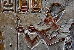 King Sti at Abydos temple