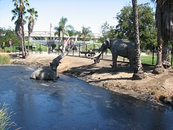 Different view of the mammoths as we circled around the tar pits