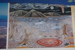 Great Aboriginal artwork depicting the local area.