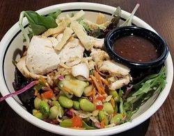 a small wonton Asian salad