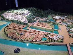 仙台城 復元模型