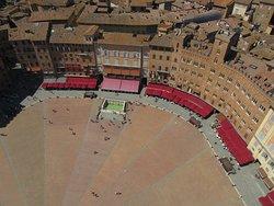Piazza del Campo dalla Torre del Mangia