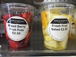 Fruit pots.