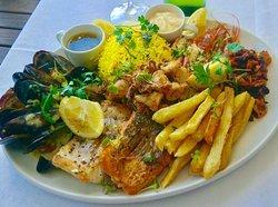 The fantastic seafood platter