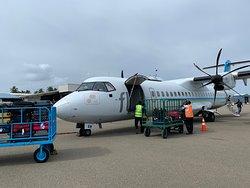 L'aereo con cui vengono fatti i trasferimenti interni