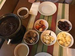 Fondue de chocolate preto