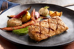 Simply Grilled Open Blue Cobia