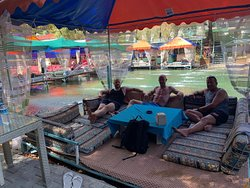 Where you have dinner on the river on the jeep safari day.