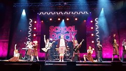 School of Rock on a rare artists invite to take a photo