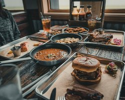 Delicious grub available at The Smoking Boar!