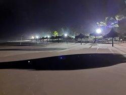 Praia maré baixa - vista noturna