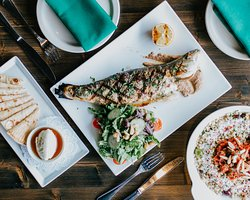 Grilled Mediterranean Sea Bass photo by@eatsee.usa