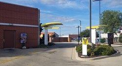 a dual lane drive-thru at McDonald's