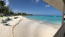 Beach between the Radisson Aquatica Resort Barbados and Hilton on Carlisle Bay.