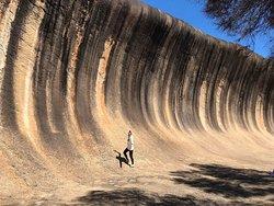 Surf Wave Rock in Western Australia