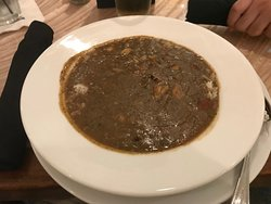 Gumbo at Frank & Lola restaurant at the premises