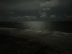 View from the balcony at the gulf - at night