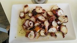 Yummy grilled octopus