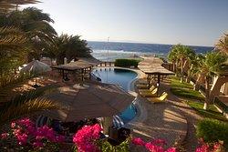 Pool and sea view from Nesima Resort