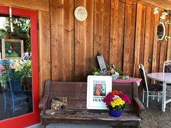 A lovely open deck patio