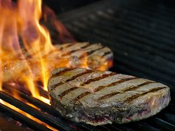 char grilled steak