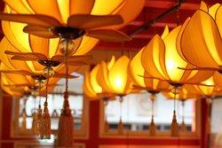 Decoration in the restaurant