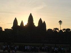 Sunrise in Angkor War (about 7:00).
