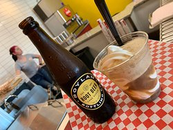 Soft Serve Vanilla with Old Fashion Root Beer... YUM!