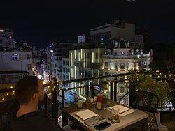 Estupenda terraza.