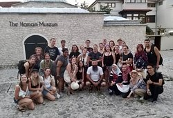 A lovely group at the end of the Free Walking Tour of Mostar!