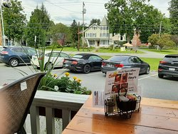 Relaxing Porch Lunch, Short Drive from Amtrak