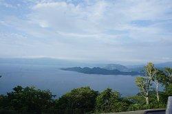 青い空に十和田湖。圧巻でした