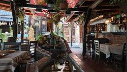 Garden and bar