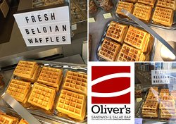 The real Belgian waffle the way granny made them? Come inside, we bake them several times a week!