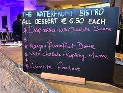 Very tempting dessert menu