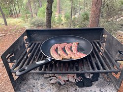 Charcoal grill in picnic area