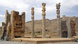 "55 kilometers from Shiraz: around 518 BC Dareios I founded the representative capital Parsa, Greek historians called it Persepolis (""city of the Persians"")."