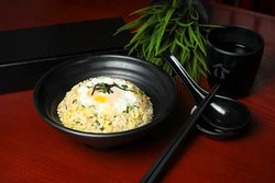 Garlic Fried Rice with Onsen Egg