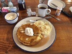 Griddle Cake with a big ol' wad of BUTTER ... OH MY!